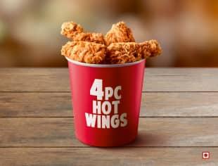 4pc Hot Chicken Wings