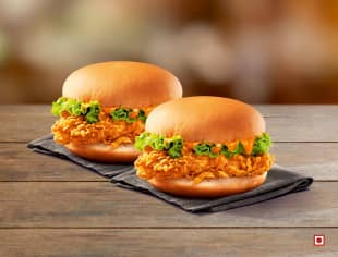 2 Chicken Krisper Burgers