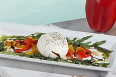Burrata with Roasted Pepper