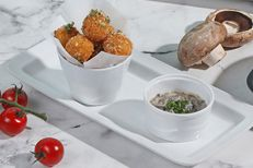 Arancini with Mushroom Sauce