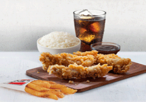 CRISPY STRIPS WITH RICE COMBO