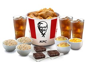 6-PC MEAL WITH RICE FIXINS DRINKS & BROWNIES