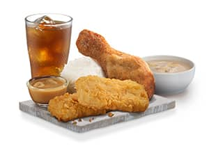 CHICKEN CHOPS FULLY LOADED MEAL