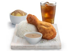 1-PC CHICKEN MEAL WITH MASHED POTATO