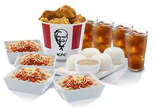 8-PC BUCKET MEAL WITH RICE DRINKS & SPAGHETTI