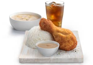 1-PC CHICKEN MEAL WITH SOUP
