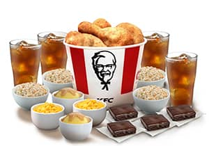 8-PC MEAL WITH RICE FIXINS DRINKS & BROWNIES