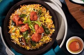 Fiery Potato 65 Biryani & Gulab Jamun