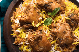 Lucknowi Chicken Biryani (Boneless)