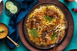 Mutton Biryani(Boneless) & Turmeric Boost