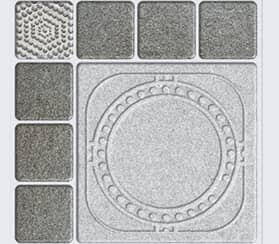 HRP Squares Geometric Slate