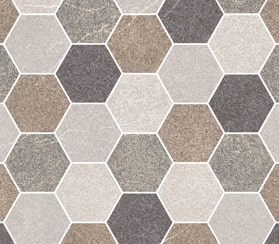 HRP Stone Hexagon Brown Multi