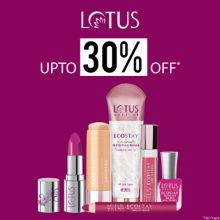 "Lotus- Treat Yourself With The Grand Blowout Offer 'upto 30% Off"" On Lotus Essentials"