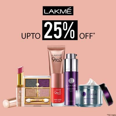 Lakme- Go Glam With 'upto 25% Off' Deal On Lakme Bestsellers