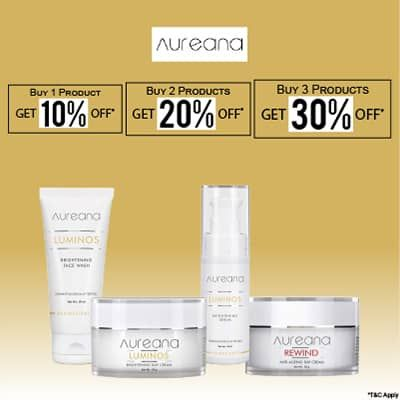 Aureana- Stock Your Hot Favourites From Aureana Skincare Collection At This Blowout Offer