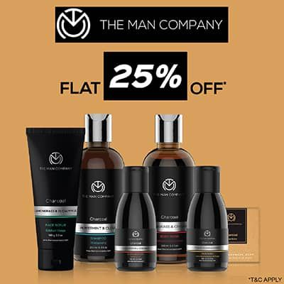 The Man Company- Take Your Men's Grooming Game Up A Notch With 'flat 25% Off' Bumper Deal On Its Essentials