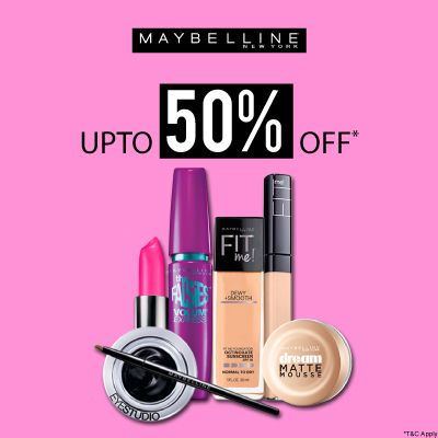 Maybelline- Go Glam With 'upto 50% Off' Deal On Maybelline Bestsellers