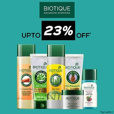 Biotique- Amp Up Your Skincare Routine With An Irreristible Deal Of 'upto 23% Off' On Biotique Essentials