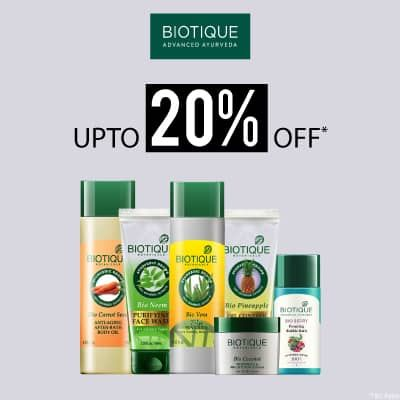 Biotique- Amp Up Your Skincare Routine With An Irreristible Deal Of 'upto 20% Off' On Biotique Essentials