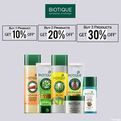 Biotique- Amp Up Your Skincare Routine With An Irreristible Deal Of 'upto 30% Off' On Biotique Essentials