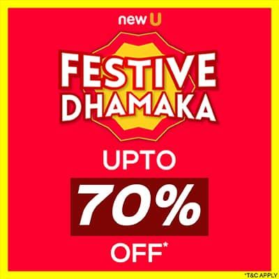 Festive Dhamaka Sale- Get Ready To Jazz Up This Festive Month With 'upto 70% Off' Blockbuster Deal On Top Brands