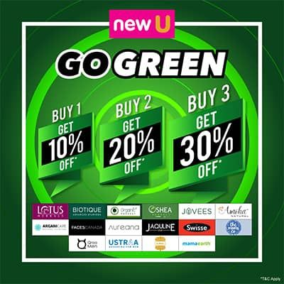 Newu Go Green Sale- Go Green This Month & Say Hello To Healthy Skin By Availing The Best Offers And Deals