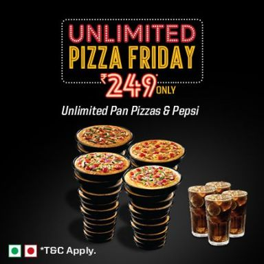 Unlimited Pizza Friday At 249 Only