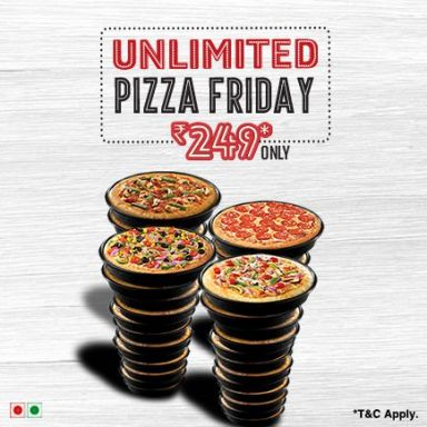 Unlimited Pizza Friday At 249